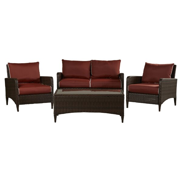 Mosca 4 Piece Sofa Set with Cushions by World Menagerie