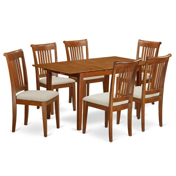 Lorelai 7 Piece Extendable Dining Set by Alcott Hill