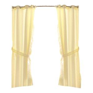 Ponce De Leon Solid Semi-Sheer Grommet Single Curtain Panel