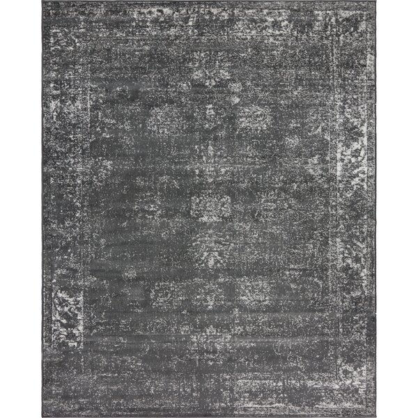 Brandt Dark Grey Area Rug by Mistana