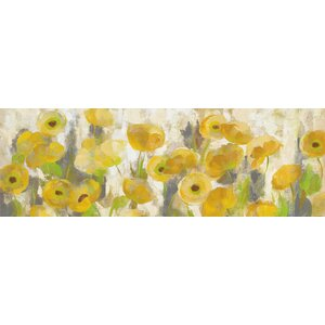 'Floating Yellow Flowers I' Painting Print on Canvas by East Urban Home