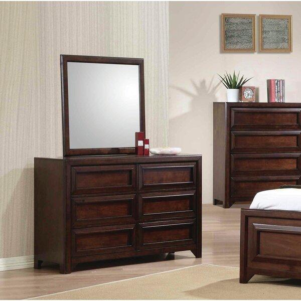 Skiba 4 Drawer Dresser with Mirror by Harriet Bee