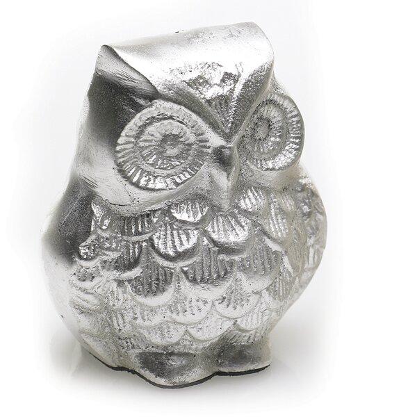 Aluminum Owl Figurine by Three Posts