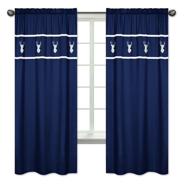 Woodsy Wildlife Semi-Sheer Rod pocket Curtain Panels (Set of 2) by Sweet Jojo Designs
