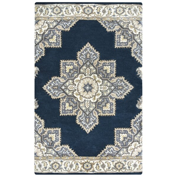 Valley Hand-Tufted Indigo Area Rug by Alcott Hill