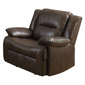 Mullinax Glider Leather Recliner by Red Barrel Studio