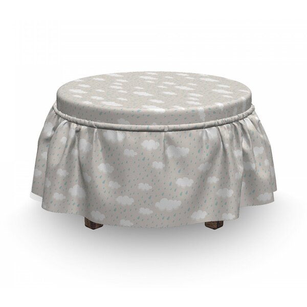 Cumulus Form Rain Clouds Ottoman Slipcover (Set Of 2) By East Urban Home