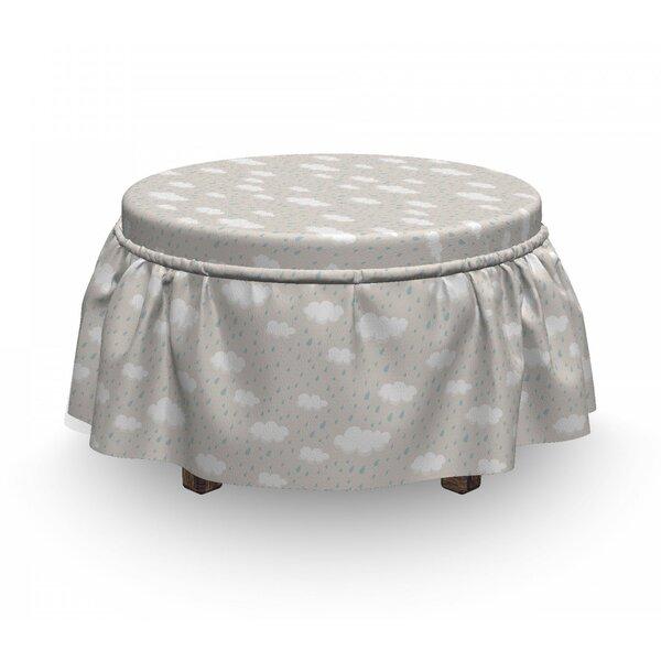 Sales Cumulus Form Rain Clouds Ottoman Slipcover (Set Of 2)