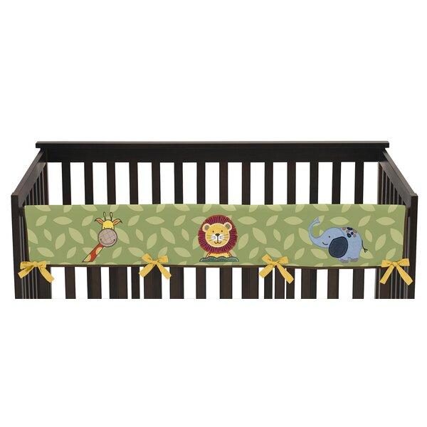 Jungle Time Long Crib Rail Guard Cover by Sweet Jojo Designs