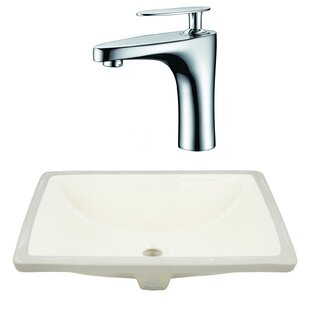 Look for CSA Ceramic Rectangular Undermount Bathroom Sink with Faucet and Overflow By Royal Purple Bath Kitchen