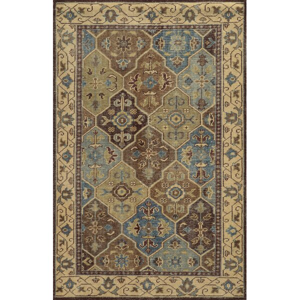 Aberdeen Hand-Knotted Brown Area Rug by Meridian Rugmakers