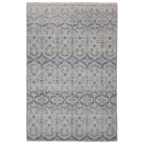 One-of-a-Kind Mitchel Turkish Knot Hand-Knotted Wool Gray Area Rug by Darby Home Co