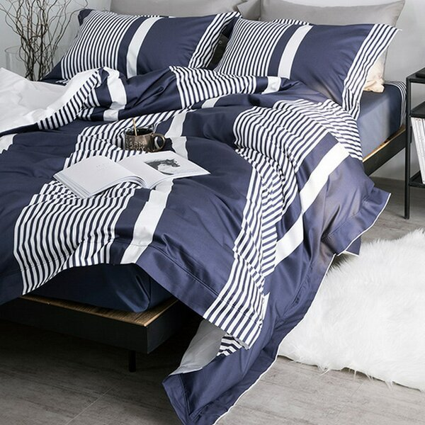 Haider 3 Piece Reversible Duvet Cover Set by Breakwater Bay