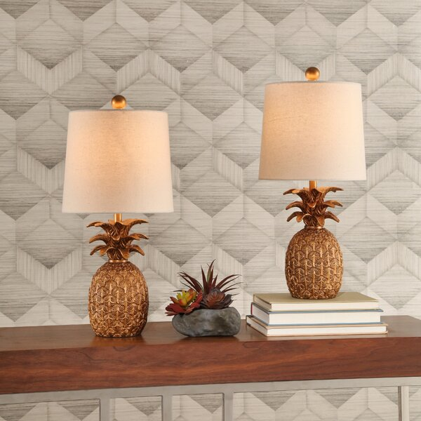 Portland Pineapple 18 Table Lamp (Set of 2) by Bay Isle Home