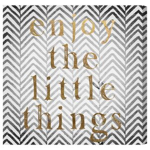 Enjoy The Little Things Textual Art on Wrapped Canvas by Oliver Gal