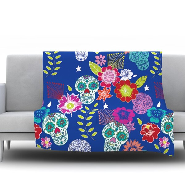 Day Of The Dead by Anneline Sophia Fleece Throw Blanket by East Urban Home