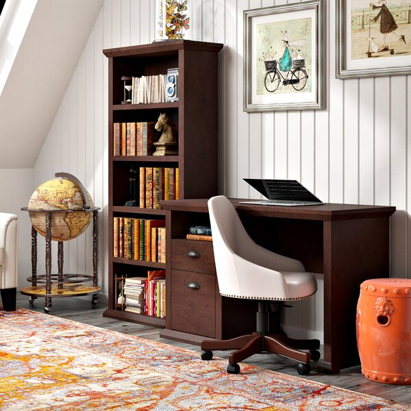 Ferrell 2 Piece Wood Desk Office Suite by Three Posts