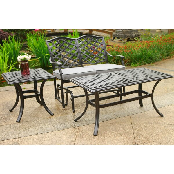 Dalessio Outdoor 3 Piece  Sofa Seating Group with Cushions by Darby Home Co