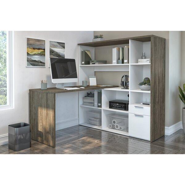 Kiawah Reversible L-Shape Desk with Hutch