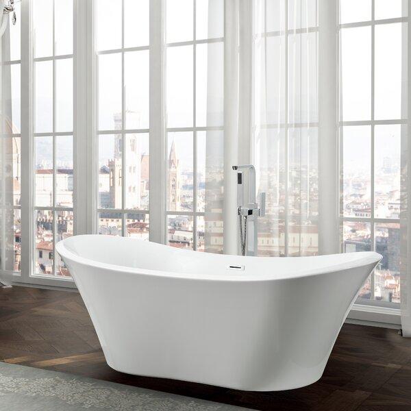 Ancona 71 x 31.5 Freestanding Soaking Bathtub by Bellaterra Home