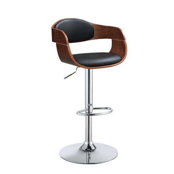 Vincent Modish Chic Adjustable Height Swivel Bar Stool by George Oliver