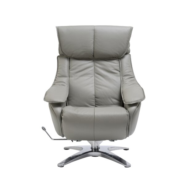 Kagan Leather Manual Swivel Recliner by Orren Ellis