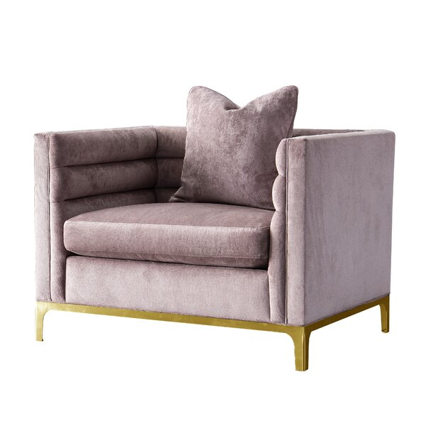 Acanva Modern Tufted Velvet Down-Filled Large Armchair by Everly Quinn