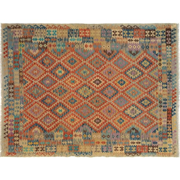 Bakerstown Hand-Woven Wool Gray/Blue Area Rug by Bloomsbury Market