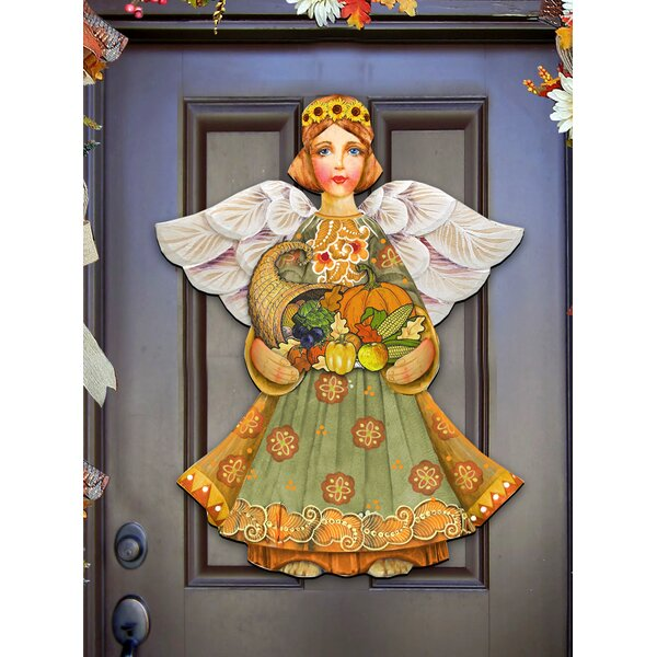 Fall Angel Door Hanger by The Holiday Aisle