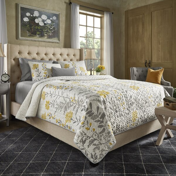 Declare Upholstered Panel Bed by Three Posts
