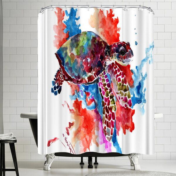 Suren Nersisyan Sea Turtle II Shower Curtain by East Urban Home