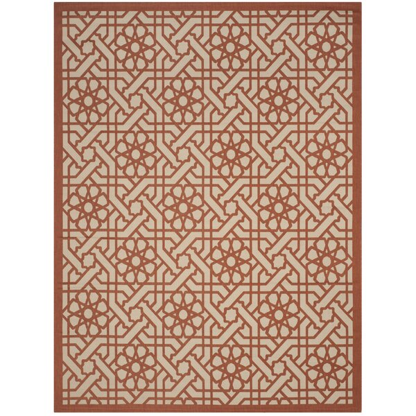 Triumph Cayenne Red/Gray Outdoor Area Rug by Martha Stewart Rugs