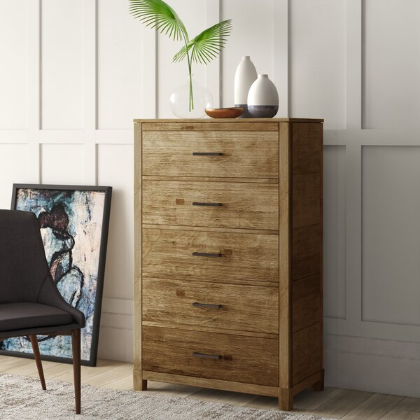 Seleukos 5 Drawer Chest by Mercury Row