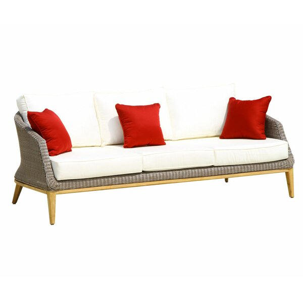Hanover Deep Seating Sofa W/White Cushion by Wrought Studio