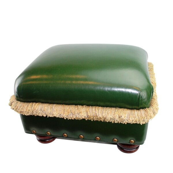Hancock and Moore H&M Leather Ottoman by Pasargad NY