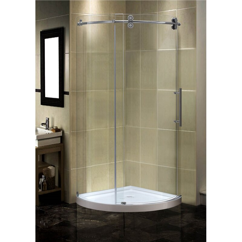 Aston Orbitus 36 X 75 Round Sliding Shower Enclosure Wayfair