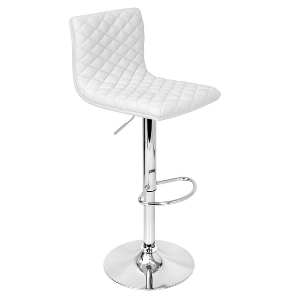 Filipina Adjustable Height Swivel Bar Stool by Wrought Studio