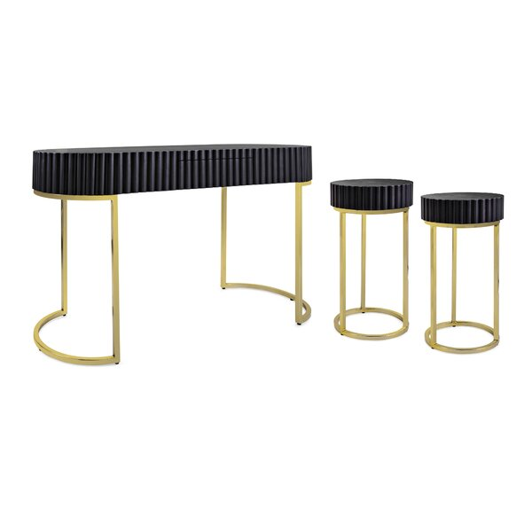 Ariah 3 Piece Console Table Set By Everly Quinn