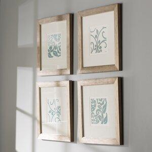 'Centennial' 4 Piece Framed Graphic Art Set (Set of 4) by One Allium Way