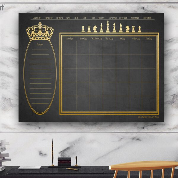 Monthly Wall Mounted Dry Erase Board by Charlton Home