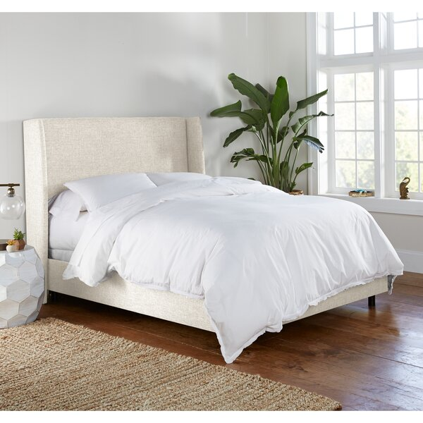 Alrai Upholstered Standard Bed by Mercury Row