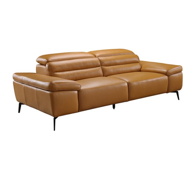 Kean Leather Sofa by Orren Ellis