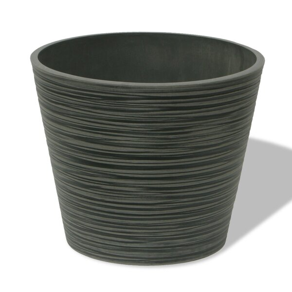 Cara Round Plastic Pot Planter by Charlton Home