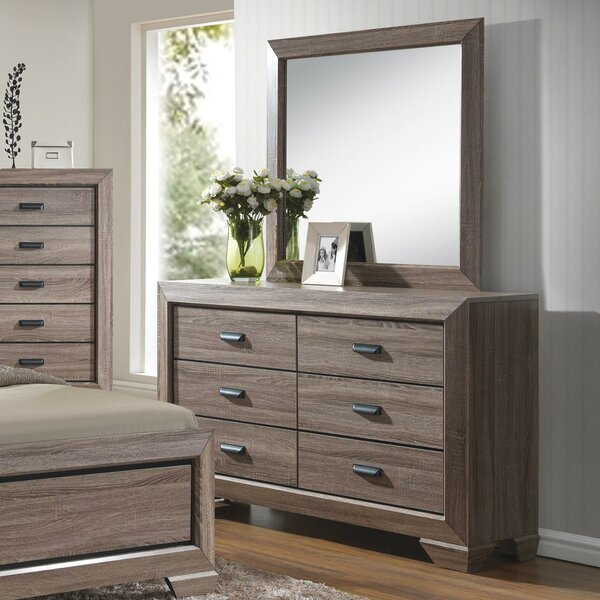 Westman  6 Drawer Double Dresser with Mirror by Gracie Oaks