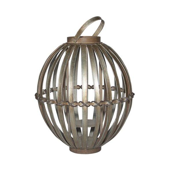 Short Avery Steel Lantern by Peak Season Inc.