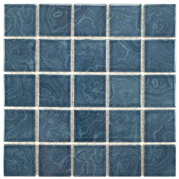 Utopia 2 x 2 Porcelain Mosaic Tile in Glazed Resort Blue by EliteTile