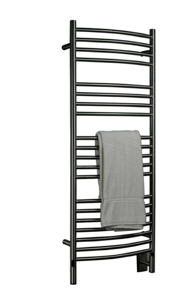 Jeeves Wall Mount Electric D Curved Towel Warmer by Amba