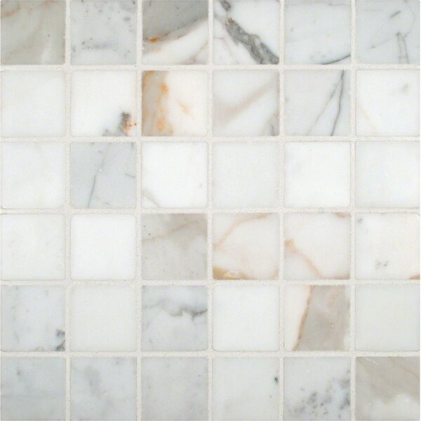 Calacatta Gold Mounted 2 x 2 Marble Mosaic Tile in White by MSI