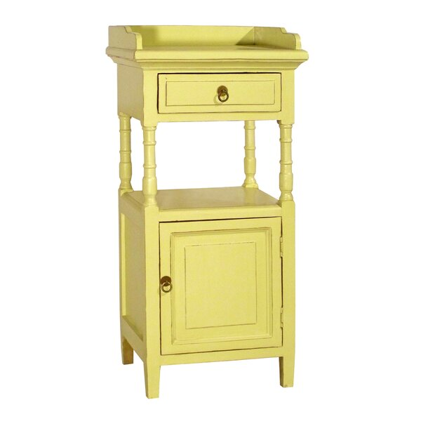Alluna 1 Drawer Side Accent Cabinet by Antique Revival