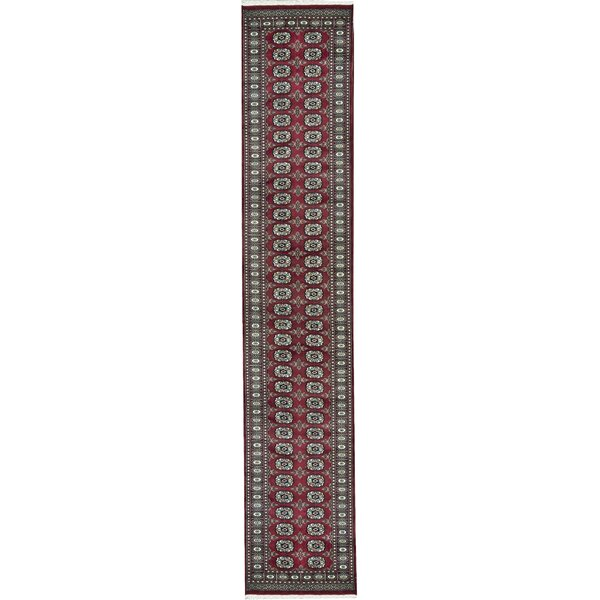One-of-a-Kind Handwoven Runner 2'6 x 13'10 Wool Red Area Rug
